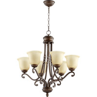 Quorum International Tribeca II 6 Light Chandelier in Oiled Bronze 6078-6-186