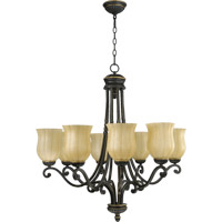 Quorum International Tribeca 8 Light Chandelier in Old World 6078-8-95
