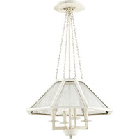 Quorum International Vanguard 4 Light Chandelier in Persian White with Mercury Glass 608-4-70