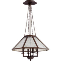 Quorum International Vanguard 4 Light Chandelier in Oiled Bronze 608-4-86