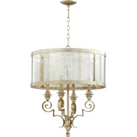 Champlain 4 Light 23 inch Aged Silver Leaf Chandelier Ceiling Light