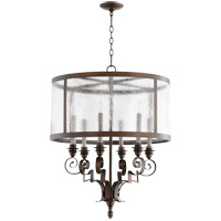 Champlain 24 inch Vintage Copper Chandelier Ceiling Light, Clear Water Glass