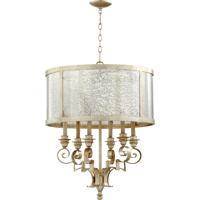 Quorum 6081-6-60 Champlain 6 Light 24 inch Aged Silver Leaf Chandelier Ceiling Light
