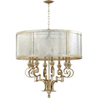 Quorum 6081-8-60 Champlain 8 Light 31 inch Aged Silver Leaf Chandelier Ceiling Light
