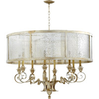 Quorum 6082-8-60 Champlain 8 Light 38 inch Aged Silver Leaf Chandelier Ceiling Light