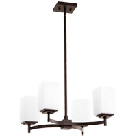 Quorum 6084-4-86 Delta 4 Light 24 inch Oiled Bronze Chandelier Ceiling Light