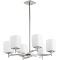 Quorum 6084-6-65 Delta 6 Light 23 inch Satin Nickel Chandelier Ceiling Light