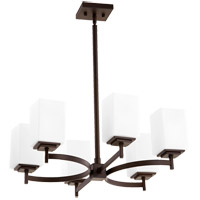 Quorum 6084-6-86 Delta 6 Light 23 inch Oiled Bronze Chandelier Ceiling Light