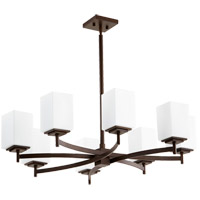 Quorum 6084-8-86 Delta 8 Light 34 inch Oiled Bronze Chandelier Ceiling Light