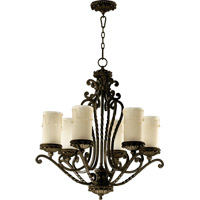 Alameda 6 Light 28 inch Oiled Bronze Chandelier Ceiling Light