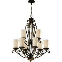 Quorum 6086-9-86 Alameda 9 Light 32 inch Oiled Bronze Chandelier Ceiling Light