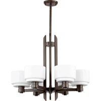 Quorum International Stillman 6 Light Chandelier in Oiled Bronze 6087-6-86