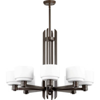 Quorum International Stillman 8 Light Chandelier in Oiled Bronze 6087-8-86