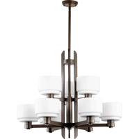 Quorum International Stillman 9 Light Chandelier in Oiled Bronze 6087-9-86