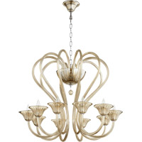 Quorum International Vivaldi 10 Light Chandelier in Chrome with Cognac 609-10-614
