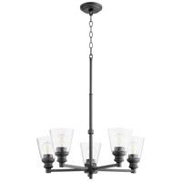 Quorum 609-5-69 Dunbar 5 Light 25 inch Noir Chandelier Ceiling Light