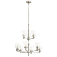 Quorum 609-9-65 Dunbar 9 Light 27 inch Satin Nickel Chandelier Ceiling Light