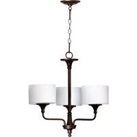 Quorum 6090-3-86 Rockwood 3 Light 22 inch Oiled Bronze Chandelier Ceiling Light