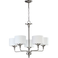 Quorum 6090-5-65 Rockwood 5 Light 27 inch Satin Nickel Chandelier Ceiling Light