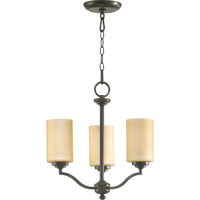 Quorum 6096-3-86 Atwood 3 Light 15 inch Oiled Bronze Chandelier Ceiling Light in Amber Scavo