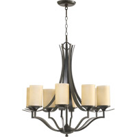 Atwood 8 Light 28 inch Oiled Bronze Chandelier Ceiling Light in Amber Scavo