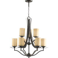 Quorum 6096-9-86 Atwood 9 Light 30 inch Oiled Bronze Chandelier Ceiling Light in Amber Scavo