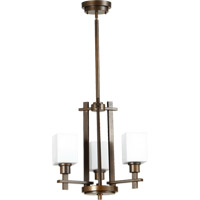 Quorum International Tate 3 Light Chandelier in Oiled Bronze 6098-3-86