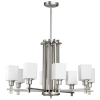 Quorum International Tate 8 Light Chandelier in Satin Nickel 6098-8-65
