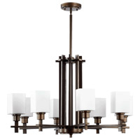 Quorum International Tate 8 Light Chandelier in Oiled Bronze 6098-8-86