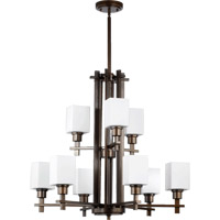 Quorum International Tate 9 Light Chandelier in Oiled Bronze 6098-9-86