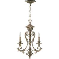 Quorum 6100-3-58 Barcelona 3 Light 16 inch Mystic Silver Chandelier Ceiling Light