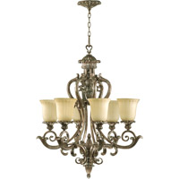 Barcelona 6 Light 28 inch Mystic Silver Chandelier Ceiling Light