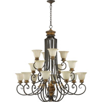 Quorum International Capella 16 Light Chandelier in Toasted Sienna With Golden Fawn 6101-16-44
