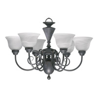 Quorum International Signature 6 Light Chandelier in Toasted Sienna 6102-6-44