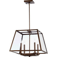 Quorum 6104-4-86 Kaufmann 4 Light 19 inch Oiled Bronze Pendant Ceiling Light