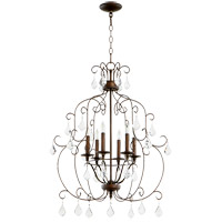 Quorum 6105-6-39 Ariel 6 Light 24 inch Vintage Copper Chandelier Ceiling Light photo thumbnail
