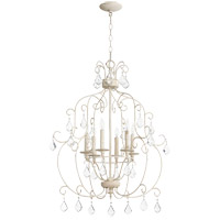 Quorum 6105-6-70 Ariel 6 Light 24 inch Persian White Chandelier Ceiling Light