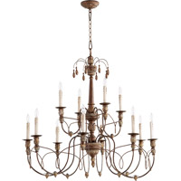 Quorum Salento 12 Light Chandelier in Vintage Copper 6106-12-39