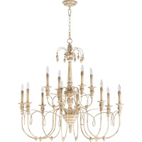 Quorum 6106-12-70 Salento 12 Light 39 inch Persian White Chandelier Ceiling Light