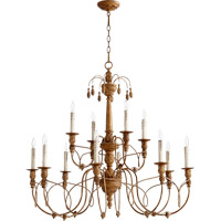 Quorum International Salento 12 Light Chandelier in French Umber 6106-12-94