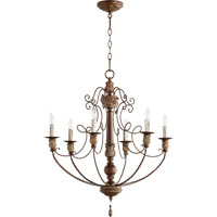 Salento 6 Light 27 inch Vintage Copper Chandelier Ceiling Light