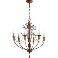 Quorum 6106-6-39 Salento 6 Light 27 inch Vintage Copper Chandelier Ceiling Light