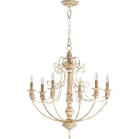 Quorum International Salento 6 Light Chandelier in Persian White 6106-6-70