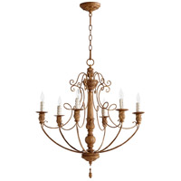 Salento 6 Light 27 inch French Umber Chandelier Ceiling Light