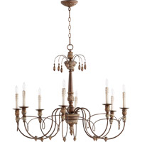 Quorum Salento 8 Light Chandelier in Vintage Copper 6106-8-39