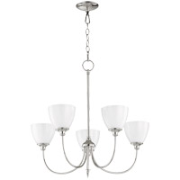 Quorum 6109-5-62 Celeste 27 inch Polished Nickel Chandelier Ceiling Light, Opal