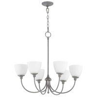 Quorum 6109-6-17 Celeste 6 Light 28 inch Zinc Chandelier Ceiling Light