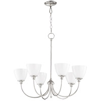 Quorum 6109-6-62 Celeste 28 inch Polished Nickel Chandelier Ceiling Light, Opal
