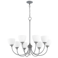 Quorum 6109-8-17 Celeste 8 Light 32 inch Zinc Chandelier Ceiling Light