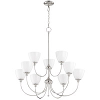 Quorum 6109-9-62 Celeste 32 inch Polished Nickel Chandelier Ceiling Light, Opal